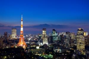 大都会東京の夜の風景