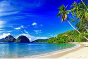 南の楽園セブ島のビーチ風景