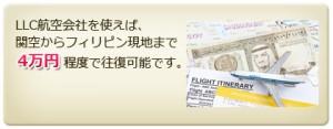 フィリピンへの航空運賃