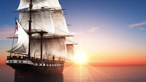 大航海時代の帆船のイメージ